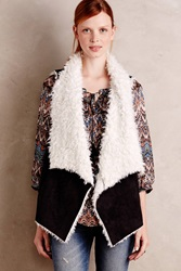 Sanctuary Draped Sherpa Vest Black