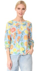 Wildfox Couture Fresh Citrus Pullover Pool Blue