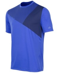 Greg Norman For Tasso Elba Men's Geometric Print T Shirt Cobalt Glaze