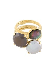 Wouters And Hendrix My Favourite Set Of Rings Gold Plated Sterling Silver Quartz Metallic