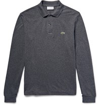 Lacoste Cotton Pique Polo Shirt Charcoal