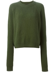 Erika Cavallini Semi Couture 'Jess' Sweater Green