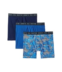 Kenneth Cole Reaction 3 Pack Novelty Boxer Brief Tropic Blue Print Navy Cobalt Underwear Multi