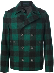 Lanvin Plaid Peacoat Green