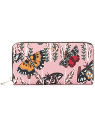 Furla Butterfly Print Wallet Pink Purple