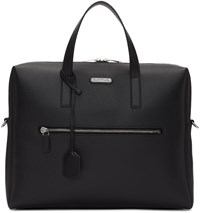 Saint Laurent Black Leather Id Briefcase