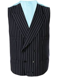 Dolce And Gabbana Double Breasted Pinstripe Waistcoat 60