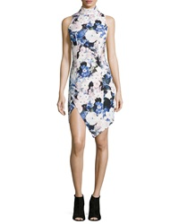 Keepsake Subtract Sleeveless Floral Print Dress Watercolor Floral