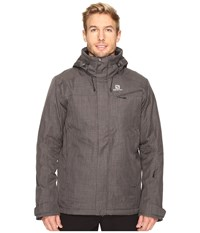 Salomon Fantasy Jacket Galet Grey Men's Coat Gray