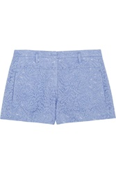 N 21 Polly Cotton Blend Lace Shorts Blue