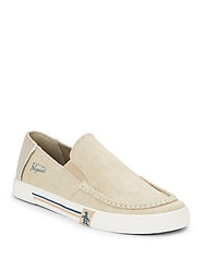 Original Penguin Ernie Canvas Loafers Beige