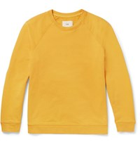 Folk Loopback Cotton Jersey Sweatshirt Yellow