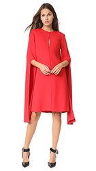 Narciso Rodriguez Bell Sleeve Dress Red
