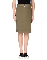 Henry Cotton's Skirts Knee Length Skirts Women Military Green