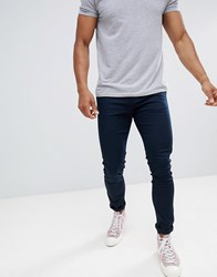 Celio Skinny Fit Chino In Navy Prussian Blue
