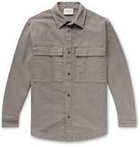 Fear Of God Cotton Overshirt Gray