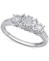 Macy's Diamond Engagement Ring 1 3 Ct. T.W. In 14K White Gold