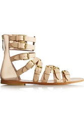 Vivienne Westwood Leather Gladiator Sandals Nude