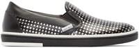 Jimmy Choo Black And Silver Houndstooth Grove Sneakers