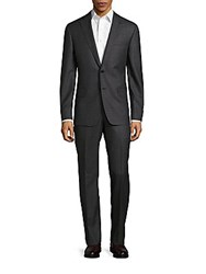 John Varvatos Textured Woolen Suit Grey