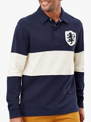 Joules Sidewell Badged Rugby Shirt Navy