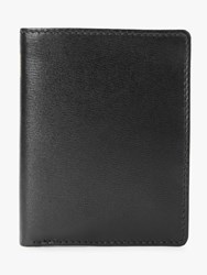 Launer Leather Six Credit Card Case Ebony Black Scarlet