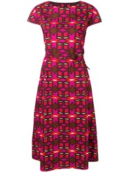 Aspesi Printed Flared Dress Pink