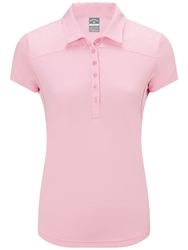 Callaway Chev Embossed Polo Pink