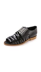 Band Of Outsiders Strappy Derby Flats Black
