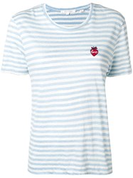 Chinti And Parker Love Striped T Shirt Blue