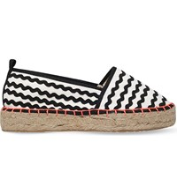 Miss Kg Dottie Patterned Canvas Espadrilles Blk White