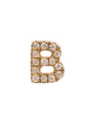 Loquet B Diamond Letter Metallic