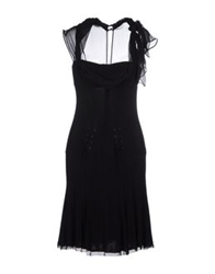 Love Sex Money Knee Length Dresses Black