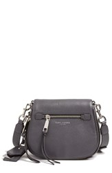 Marc Jacobs Small Recruit Nomad Pebbled Leather Crossbody Bag Grey Shadow