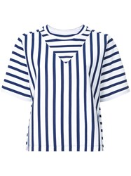 Ck Calvin Klein Basque Stripe T Shirt Blue