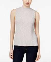 Styleandco. Style And Co. Petite Sleeveless High Low Top Only At Macy's Oatmeal Fleck
