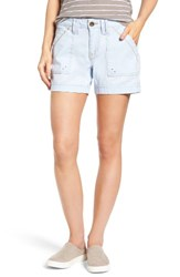 Jag Jeans Women's Izzy Twill Utility Shorts Bluebell