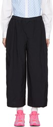 Comme Des Garcons Navy Voluminous Trousers