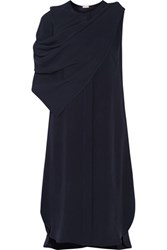 Adam By Adam Lippes Draped Crepe Midi Dress Midnight Blue