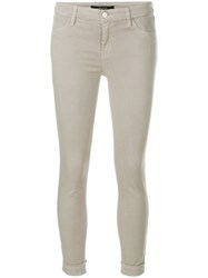 J Brand Anja Mid Rise Trousers Grey