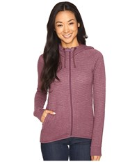 Merrell Kota Quilted Full Zip Hoodie Prune Purple Heather Women's Sweatshirt