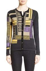 Versace Women's Collection Tetris Silk Blend Cardigan