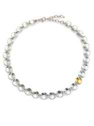 Gurhan Hourglass 24K Yellow Gold And Sterling Silver All Around Necklace Silver Gold