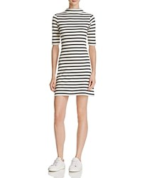 French Connection Terry Stripe Dress Classic Cream Nocturnal