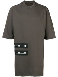 Rick Owens Drkshdw Double Patch T Shirt Green