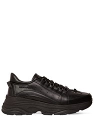 Dsquared 551 Leather Bumpee Low Top Sneakers Black