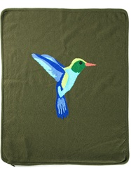 Lucien Pellat Finet Lucien Pellat Finet Bird Cushion Cover Green