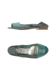 Manila Grace Footwear Ballet Flats Women Green