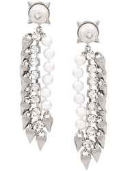 Dsquared2 Punk Crystal Earrings Silver