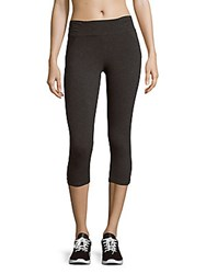 Andrew Marc New York Textured Cropped Leggings Charcoal